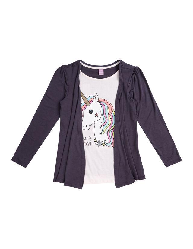 Mädchen Shirt im 2-in-1-Look