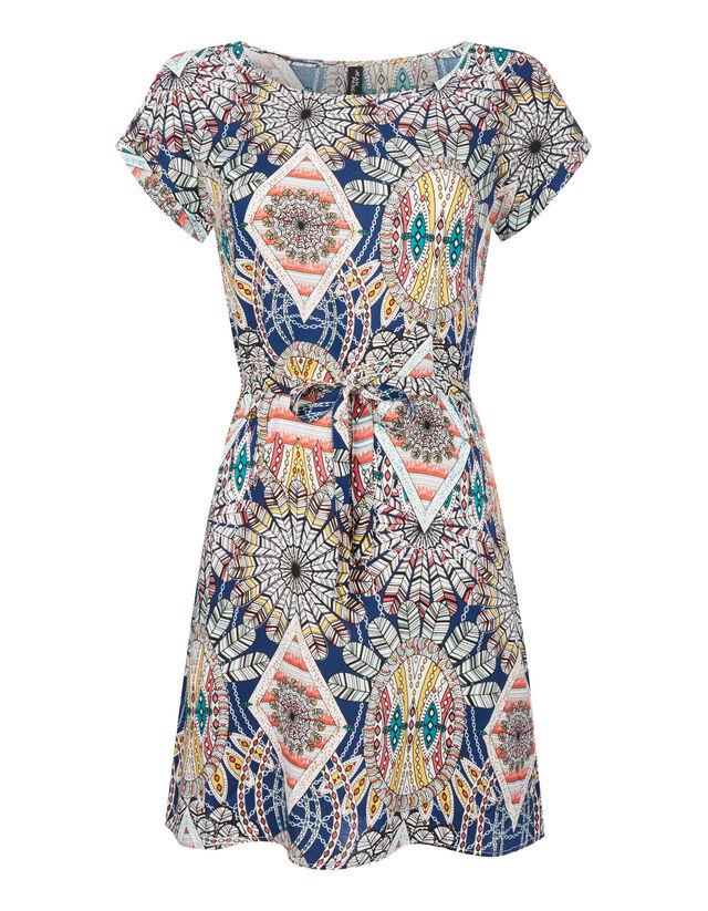 Damen Kleid mit Allover-Muster