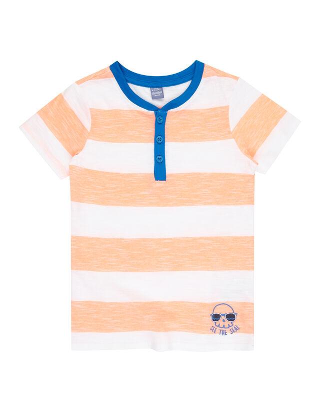 Jungen Serafino-Shirt mit Streifenmuster