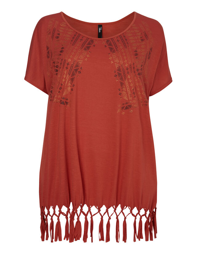 Damen Shirt mit Ethno-Print