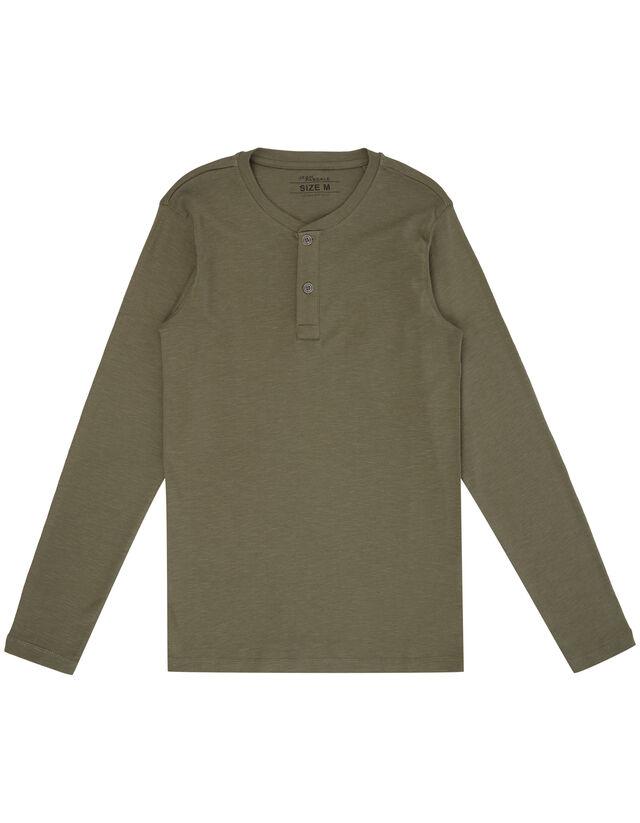 Herren Serafino-Shirt aus Slub Jersey