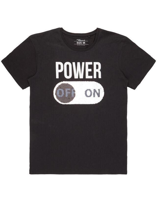 Herren Regular Fit T-Shirt mit Wende-Pailletten