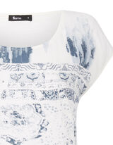 Damen Shirt mit Kontrastrückseite