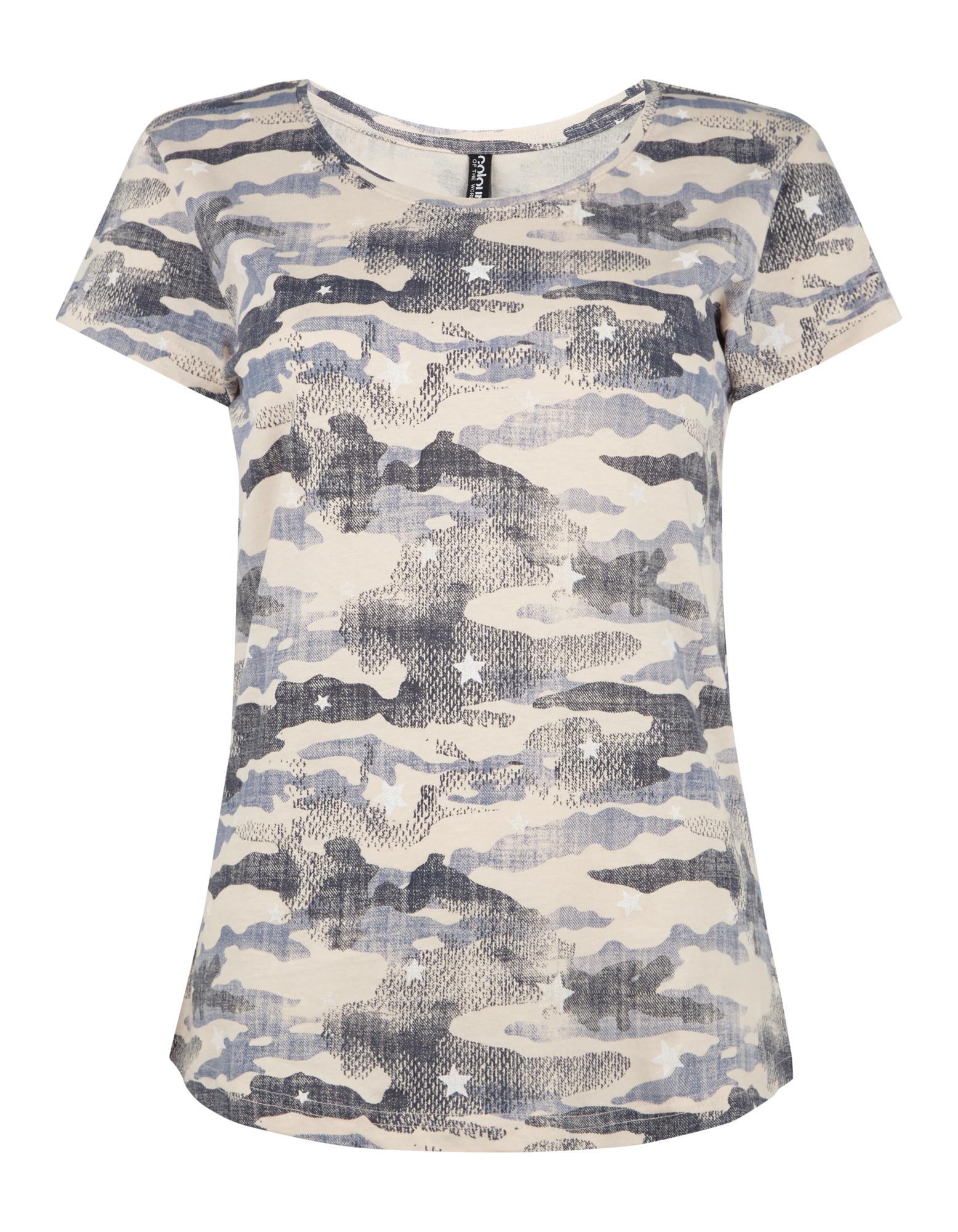 damen t shirt mit camouflage muster takko fashion. Black Bedroom Furniture Sets. Home Design Ideas