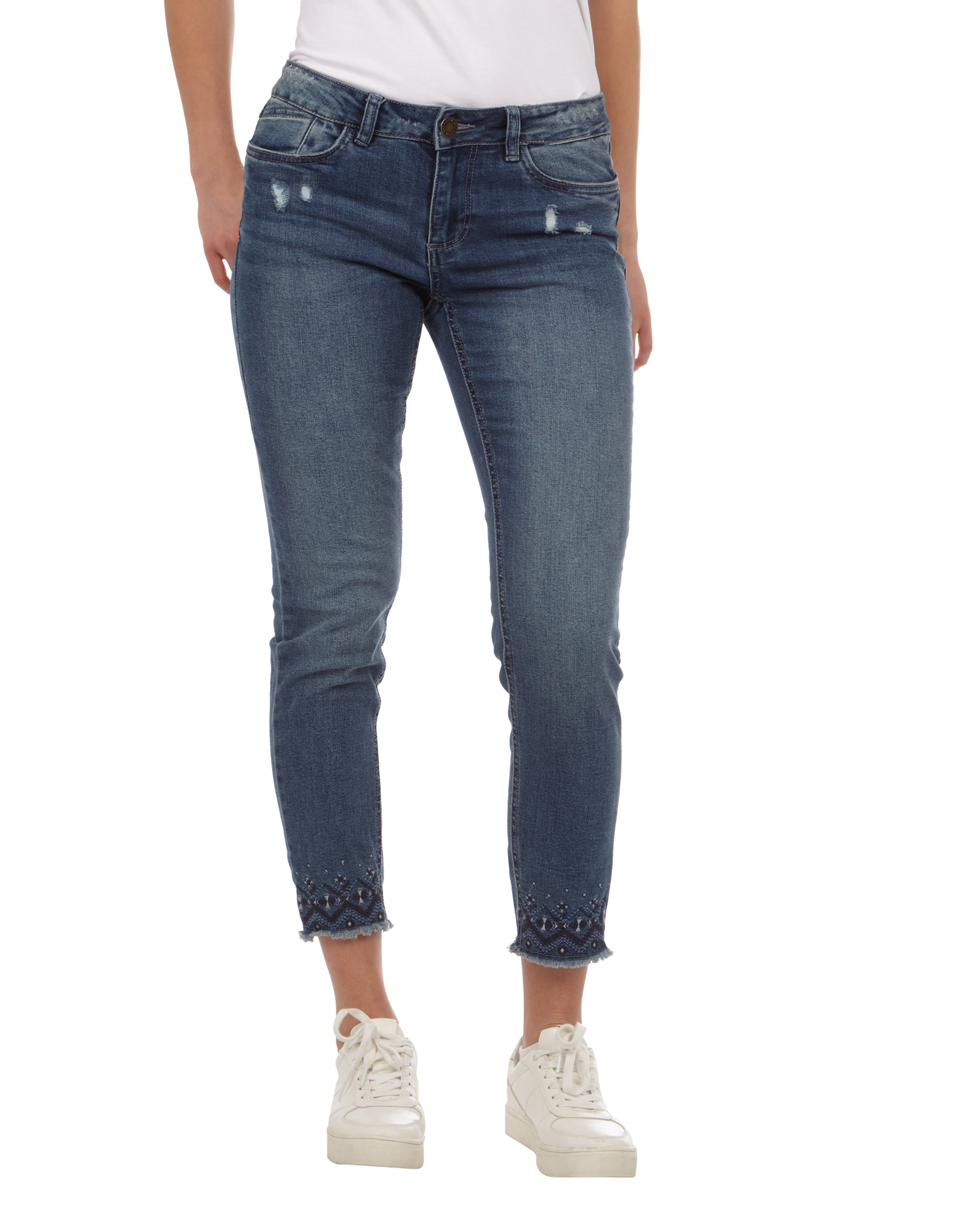 damen skinny fit jeans im used look takko fashion. Black Bedroom Furniture Sets. Home Design Ideas