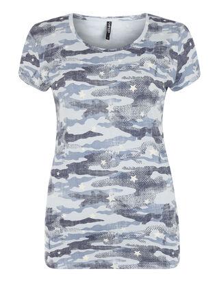 Damen T-Shirt mit Camouflage-Muster