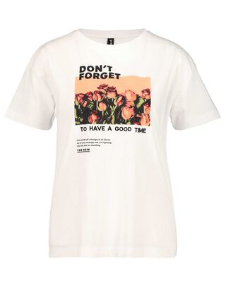Damen T-Shirt mit Stickerei und Print