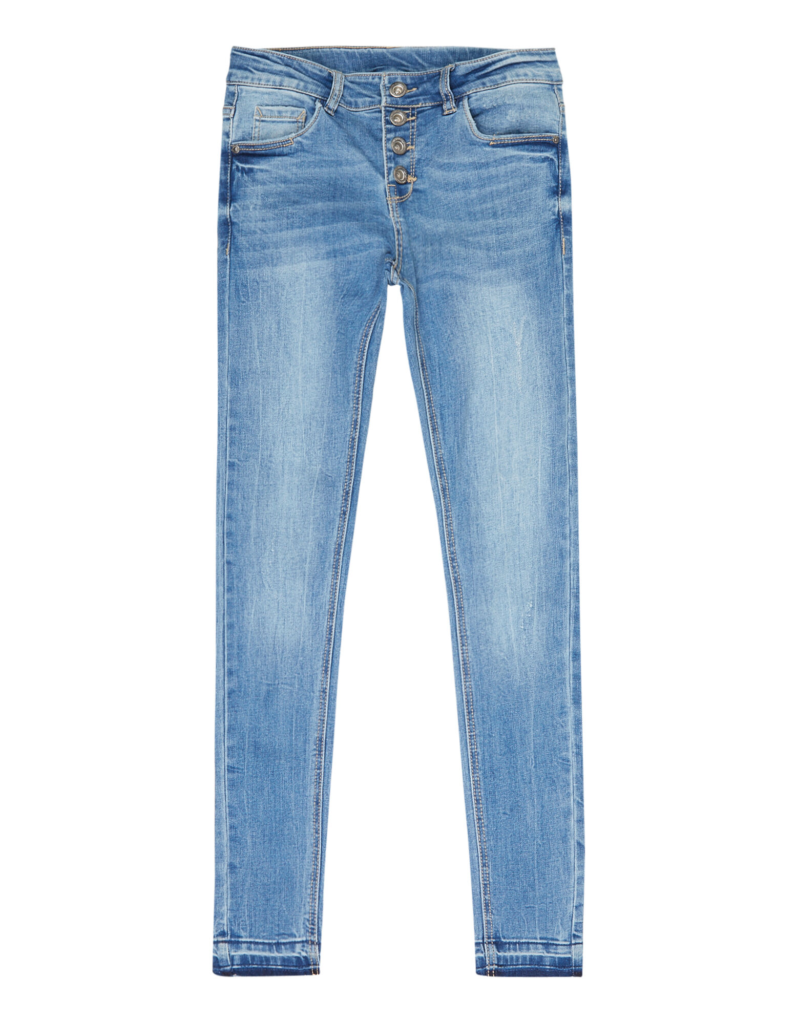 Mädchen Skinny Fit Jeans im Stone Washed Look