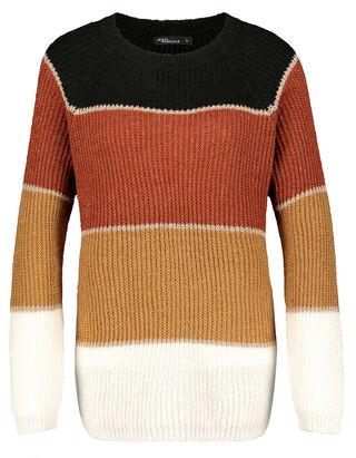 Damen Pullover mit Streifenmuster