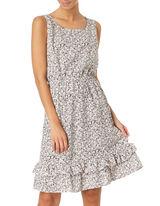 Damen Kleid mit floralem Muster
