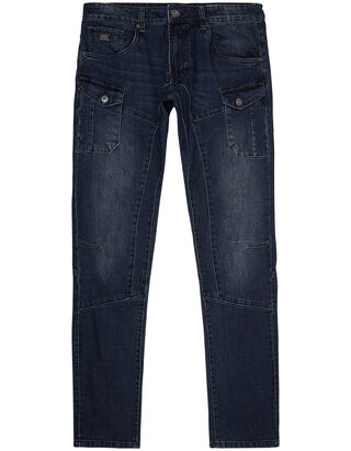 Herren Tapered Fit Jeans im Stone Washed Look