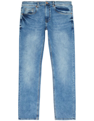 Herren Stone Washed Straight Fit Jeans