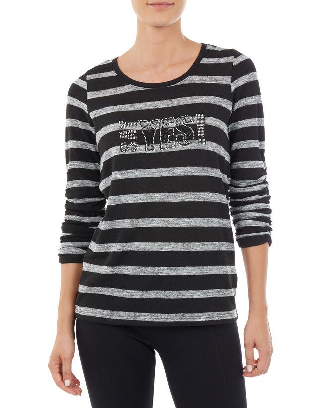 fdd3bded42fe36 Damen Strickshirt mit Dreiviertel-Ärmel - Takko Fashion
