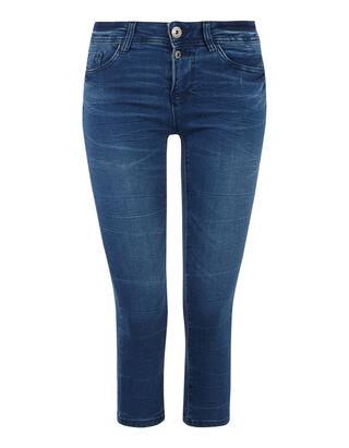 30deb56290fa Damen Stone Washed Skinny Fit Capri Jeans