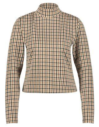 Damen Langarmshirt mit Pepita-Muster