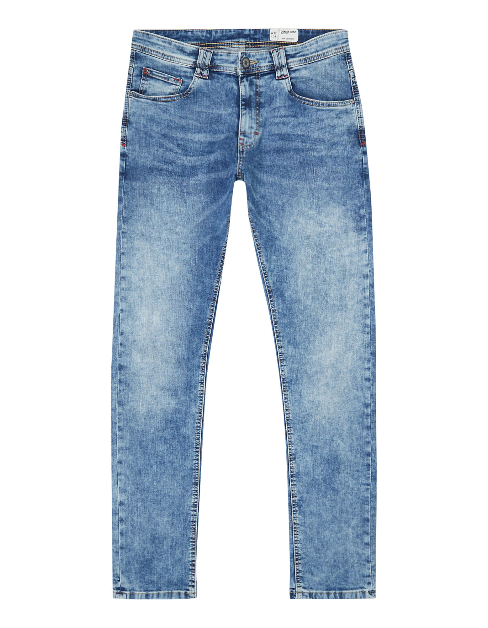 Fit Straight Bleached Bleached Jeans Herren Straight Fit