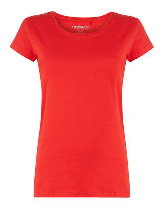 f9e589405b4b Damen T-Shirt mit Rundhalsausschnitt