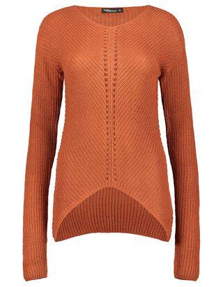 Damen Pullover mit Lochmuster