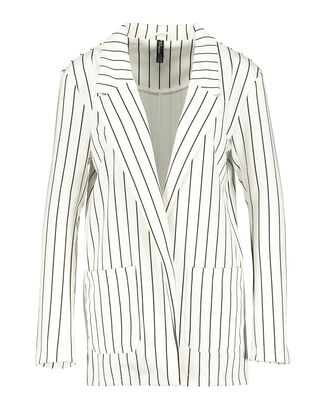 Damen Sweat-Blazer mit Streifen-Muster