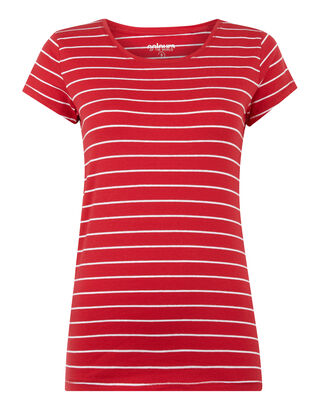 284bead39bcd Damen T-Shirt mit Streifenmuster