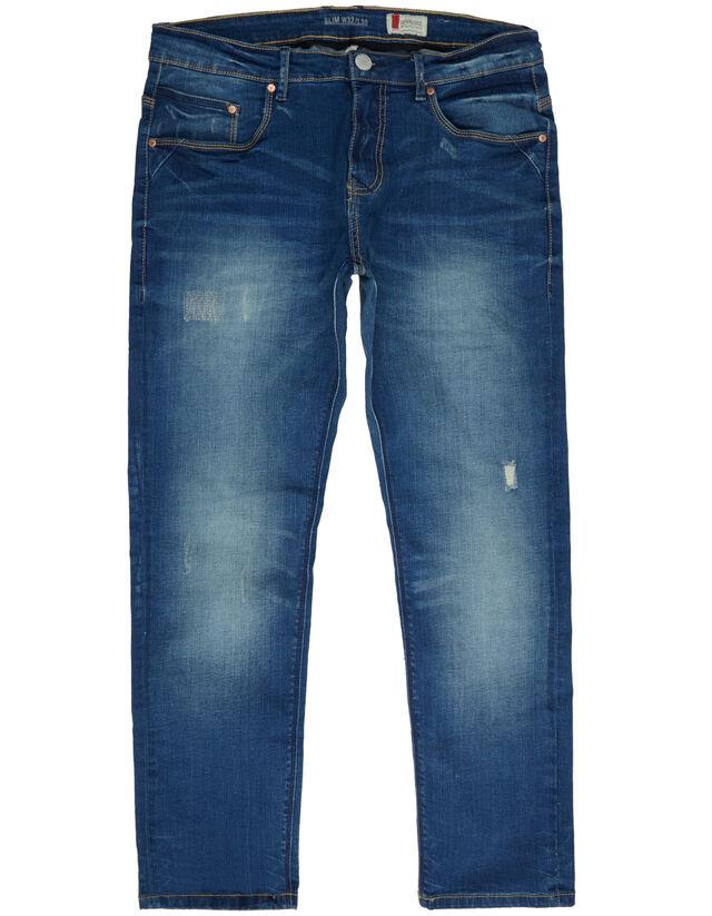 herren slim fit jeans im used look takko fashion. Black Bedroom Furniture Sets. Home Design Ideas