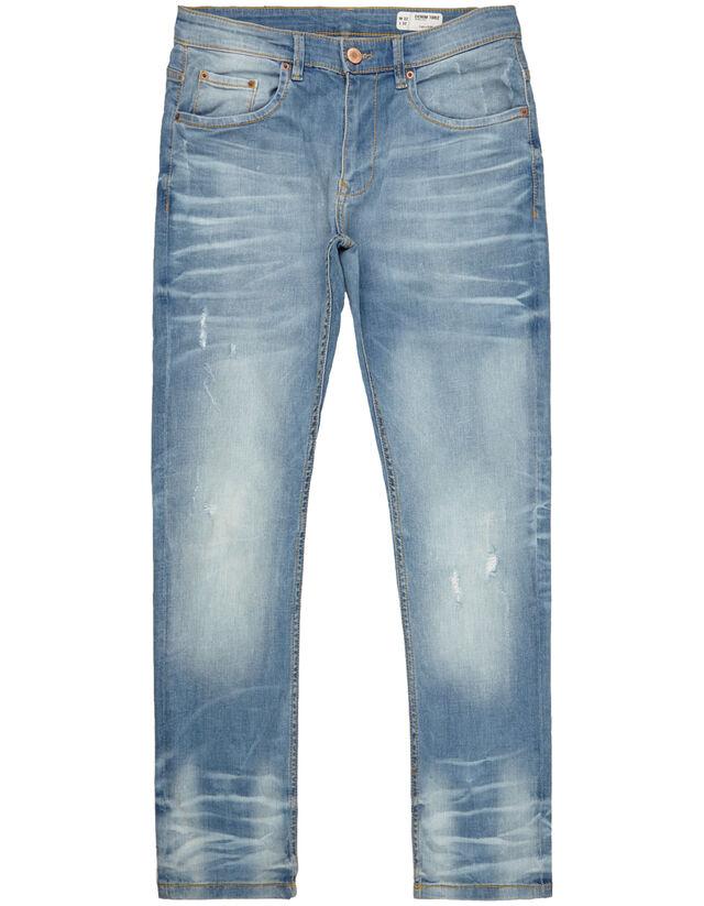 Herren Slim Fit Jeans Im Destroyed Look Takko Fashion