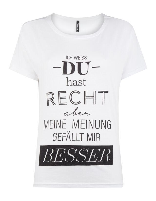 brand new a77f0 95927 Damen T-Shirt mit Message-Print