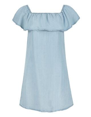 Damen Volant Kleid aus Lyocell