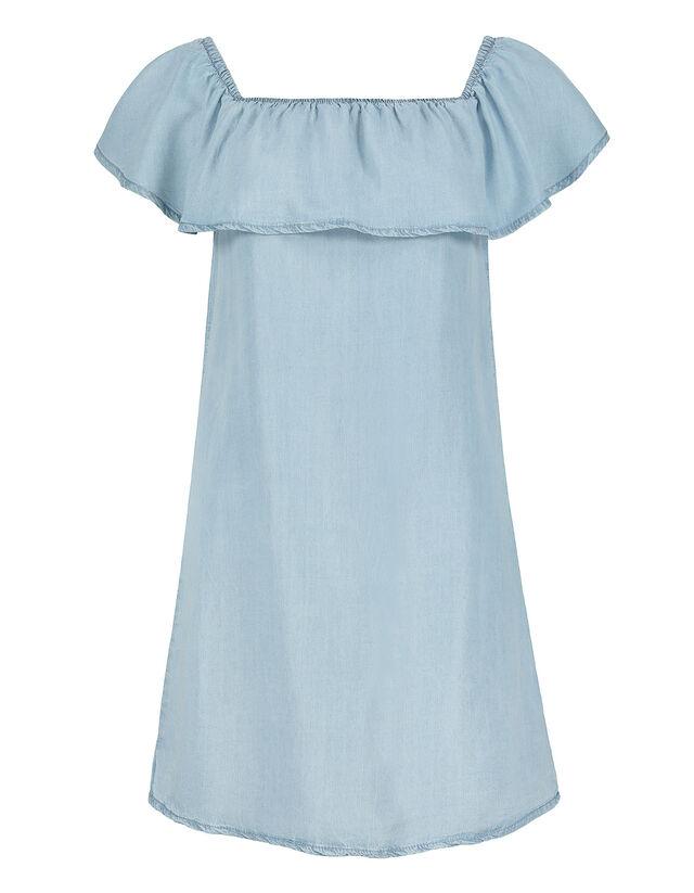 Damen Volant Kleid Aus Lyocell Takko Fashion