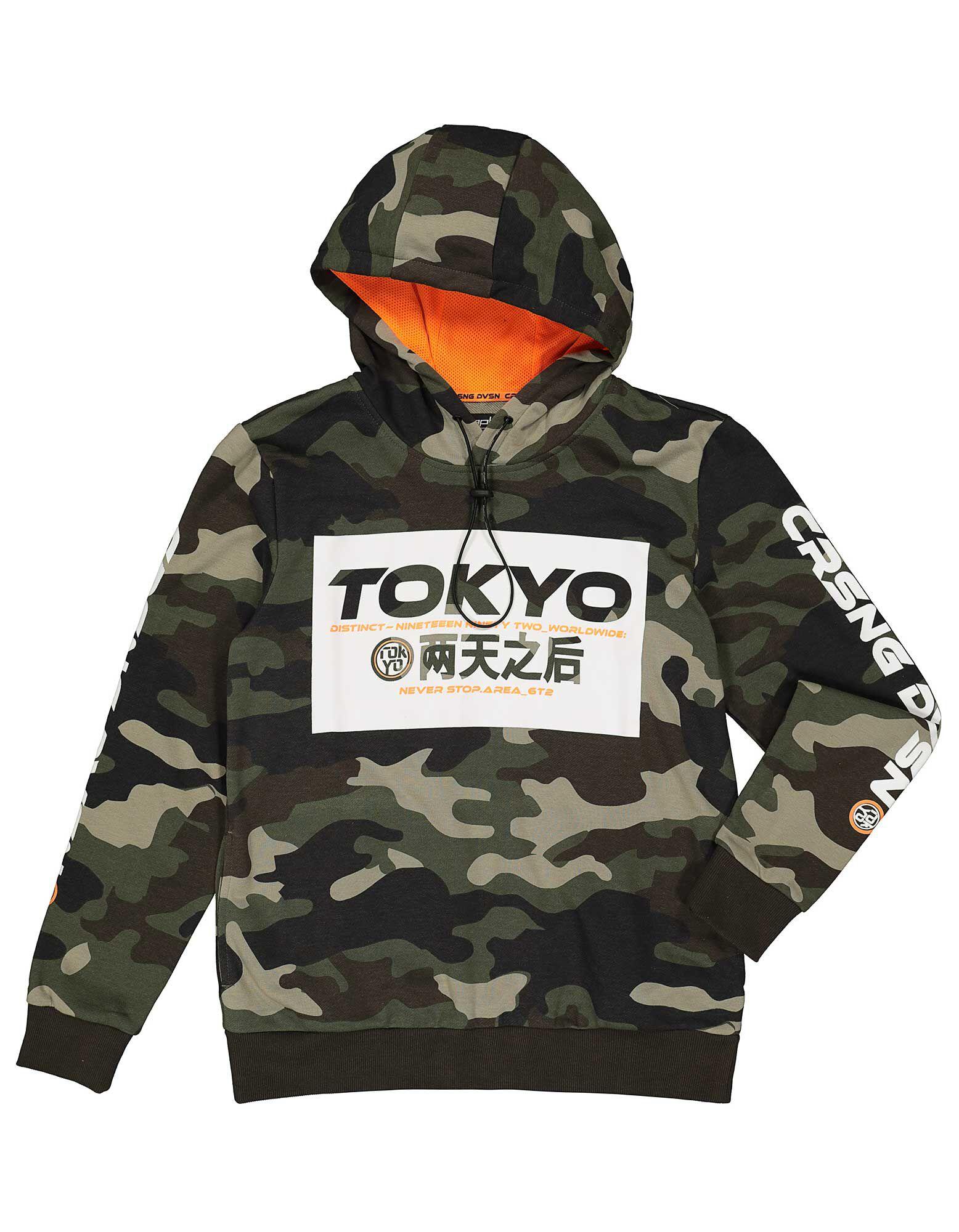 Herren Sweatshirt mit Tunnelzug an der Kapuze Takko Fashion
