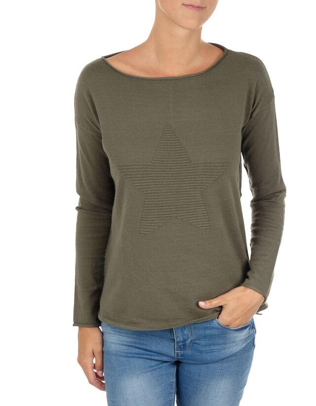 9c3ae3523c9820 Damen Pullover mit Stern-Motiv - Takko Fashion