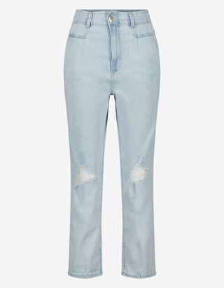 Damen High Waist Jeans im Used-Look