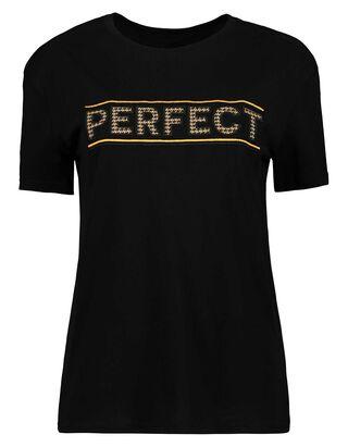Damen T-Shirt mit Pepita-Muster