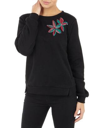 Damen Sweatshirt mit floraler Applikation 37cdef6d60