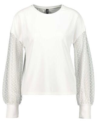 Damen Langarmshirt mit Mesh-Element