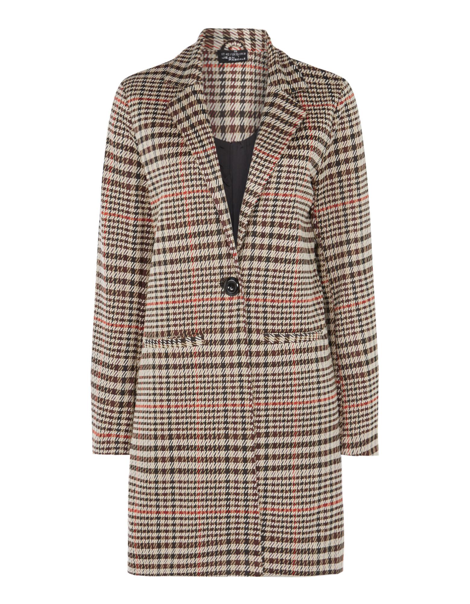Damen Mantel mit Hahnentritt Design