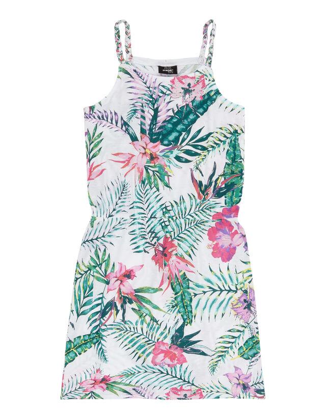 Mädchen Kleid mit tropischem Muster - Takko Fashion