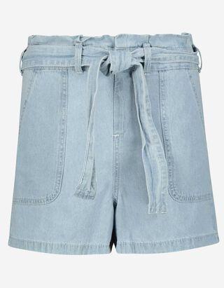 Damen Jeansshorts mit Gürtel