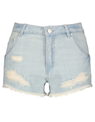 Damen Jeansshorts mit Destroyed-Effekten