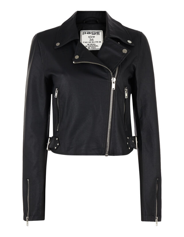 e5d05bacaf30 Damen Biker-Jacke in Lederoptik - Takko Fashion