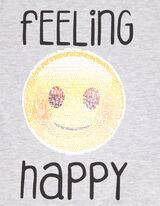 Mädchen Longsleeve mit Wende-Pailletten Emoji