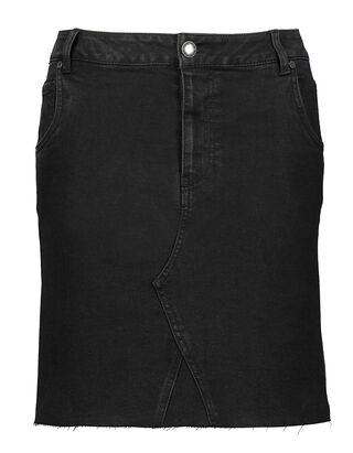 Damen Jeansrock mit ausgefransten Abschlüssen