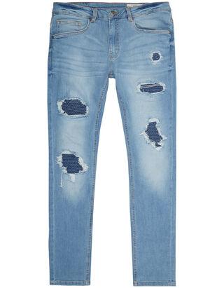 Herren Skinny Fit Jeans im Destroyed Look