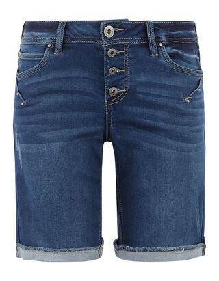 ecac1b38331a Damen Stone Washed Jeansshorts mit Knopfleiste