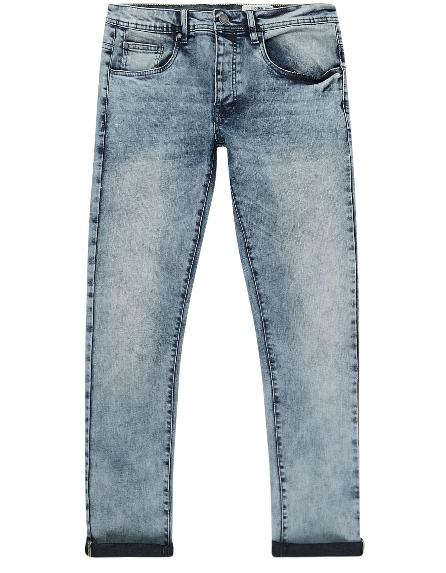 Herren Skinny Fit Jeans im Bleached Look