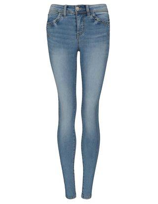 Damen Skinny Fit Jeans mit Ziersteinen