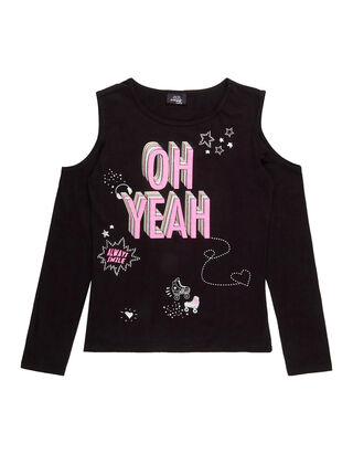 Mädchen Cold-Shoulder-Shirt mit Print c8314e07f0