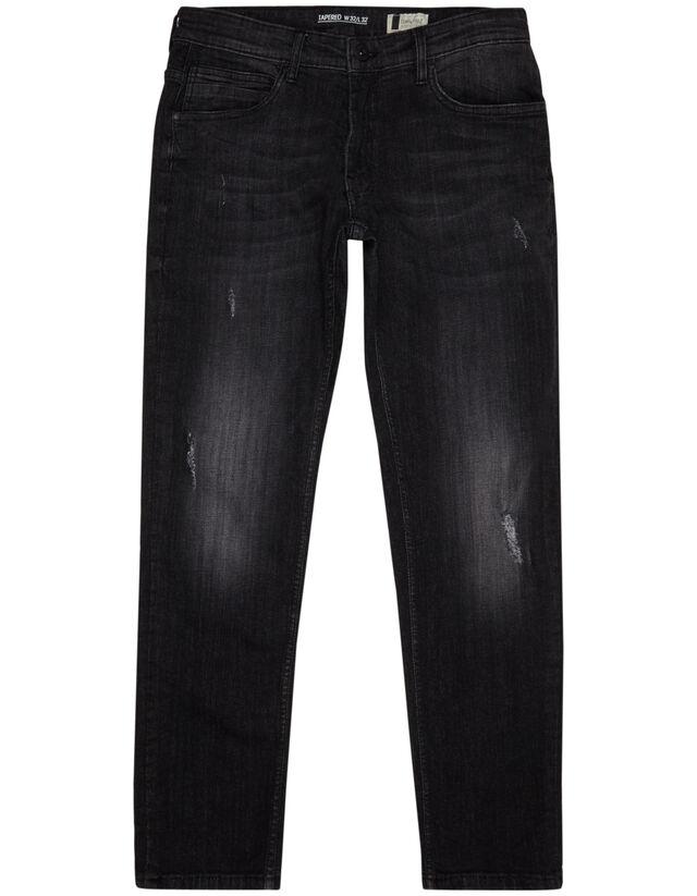 herren tapered fit jeans im used look takko fashion. Black Bedroom Furniture Sets. Home Design Ideas