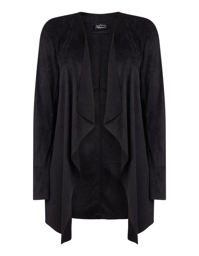 low priced c48f2 47238 Damen Jacke in Veloursleder-Optik