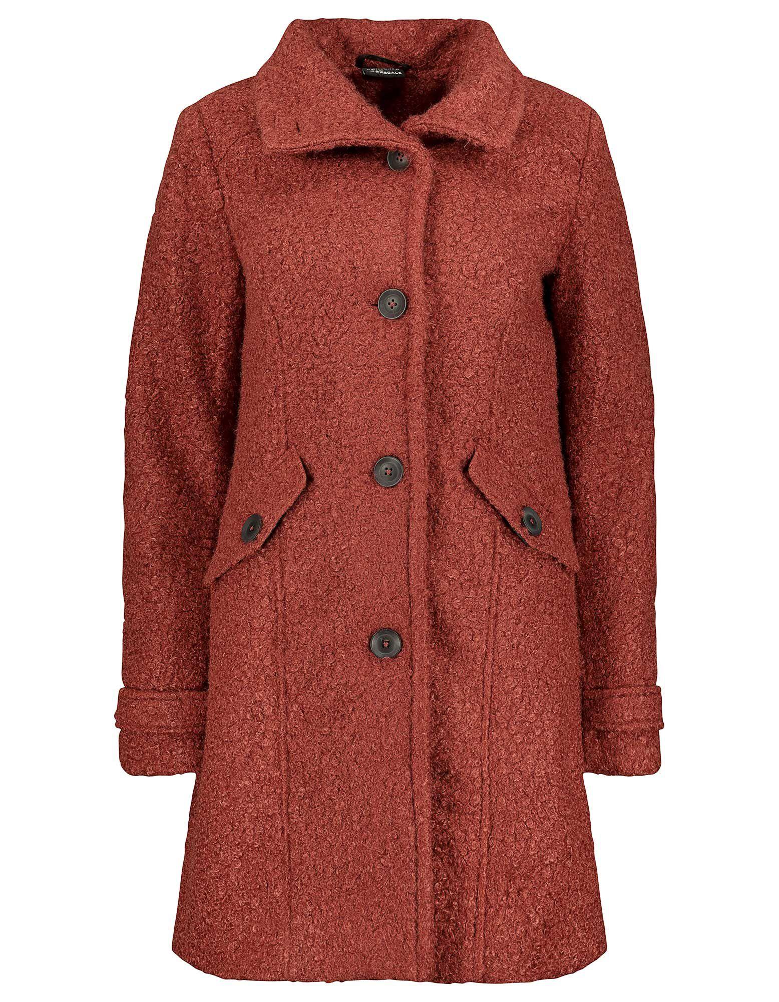 Damen Mantel aus Bouclé